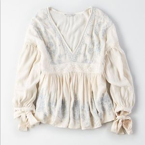 American Eagle Outfitters Long Sleeve Blouse